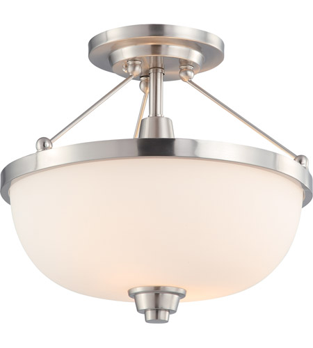 Nuvo 60/4188 Helium 2 Light 14 inch Brushed Nickel Semi-Flush Ceiling Light photo