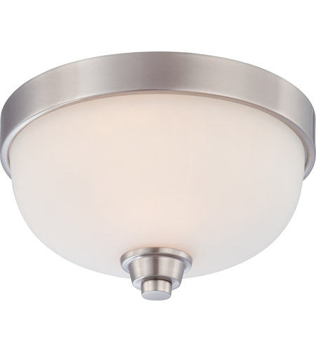 Nuvo 60/4191 Helium 1 Light 11 inch Brushed Nickel Flushmount Ceiling Light photo