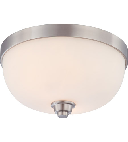 Nuvo 60/4192 Helium 2 Light 13 inch Brushed Nickel Flushmount Ceiling Light photo