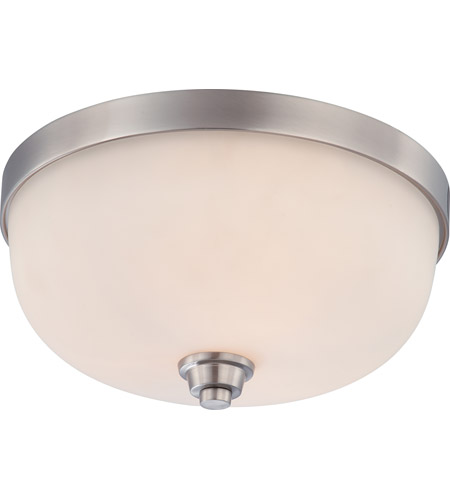 Nuvo 60/4193 Helium 3 Light 15 inch Brushed Nickel Flushmount Ceiling Light photo