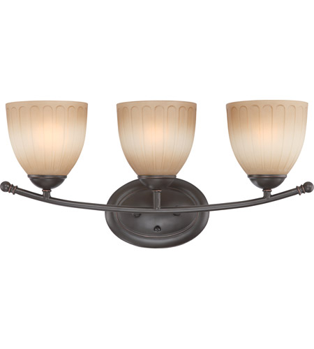 Nuvo Lighting Carousel 3 Light Vanity & Wall in Sudbury Bronze 60/4223 photo