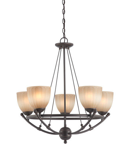 Nuvo Lighting Carousel 5 Light Chandelier in Sudbury Bronze 60/4226 photo