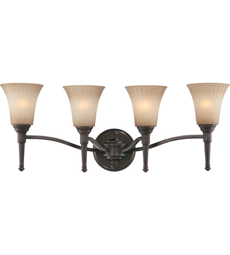 Nuvo Lighting Franklin 4 Light Vanity & Wall in Georgetown Bronze 60/4244 photo