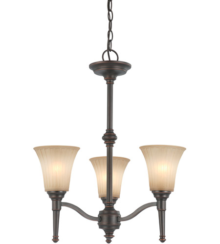 Nuvo Lighting Franklin 3 Light Chandelier in Georgetown Bronze 60/4245 photo