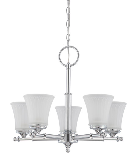 Nuvo Lighting Teller 5 Light Chandelier in Polished Chrome 60/4265 photo