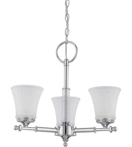 Nuvo Lighting Teller 3 Light Chandelier in Polished Chrome 60/4266 photo