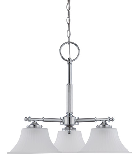 Nuvo 60/4273 Teller 3 Light 25 inch Polished Chrome Chandelier Ceiling Light photo