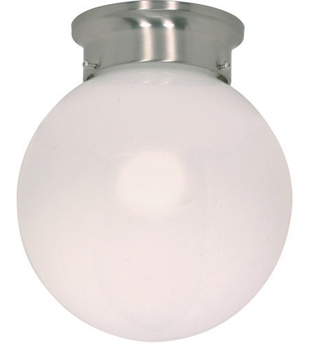 Nuvo 60/432 Signature 1 Light 8 inch Brushed Nickel Flushmount Ceiling Light photo