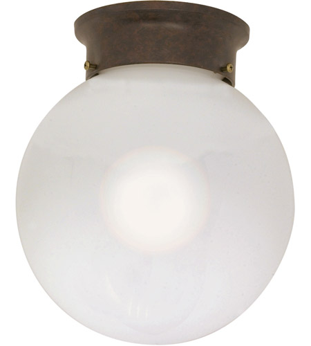 Nuvo 60/433 Signature 1 Light 8 inch Old Bronze Flushmount Ceiling Light photo