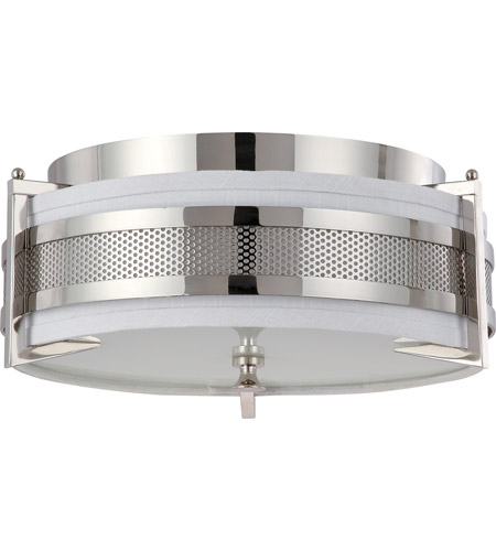 Nuvo Lighting Diesel 3 Light Flushmount in Polished Nickel 60/4336 photo