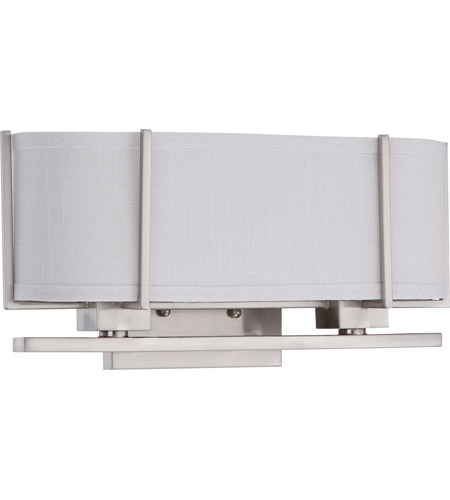 Nuvo 60/4344 Portia 2 Light 17 inch Brushed Nickel Vanity & Wall Wall Light photo