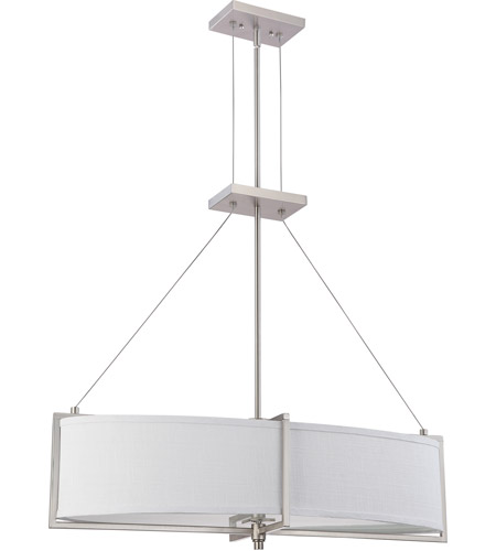 Nuvo Lighting Portia 4 Light Pendant in Brushed Nickel 60/4347 photo