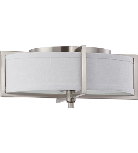 Nuvo 60/4348 Portia 2 Light 11 inch Brushed Nickel Flushmount Ceiling Light photo