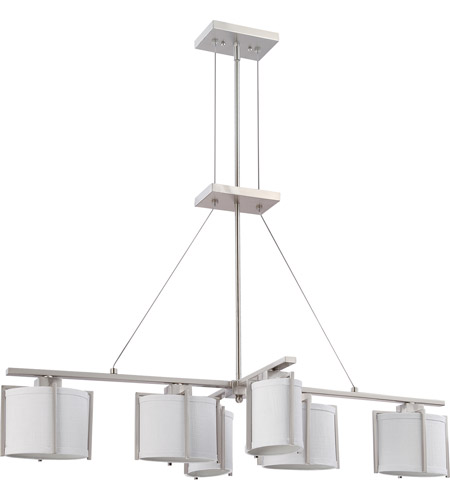 Nuvo Lighting Portia 6 Light Pendant in Brushed Nickel 60/4351 photo