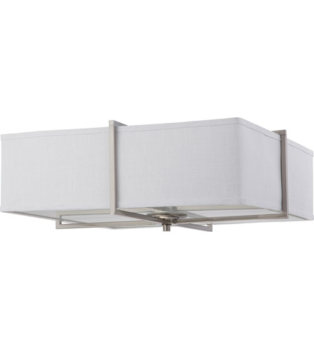Nuvo Lighting Logan 4 Light Flushmount in Brushed Nickel 60/4369 photo