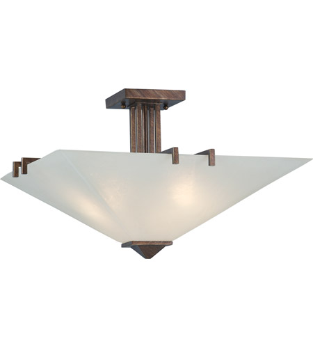 Nuvo Lighting Ratio 3 Light Semi-Flush in Inca Gold 60/4406 photo