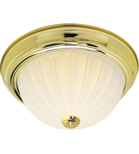Nuvo Lighting Signature 2 Light Flushmount in Polished Brass 60/442 photo