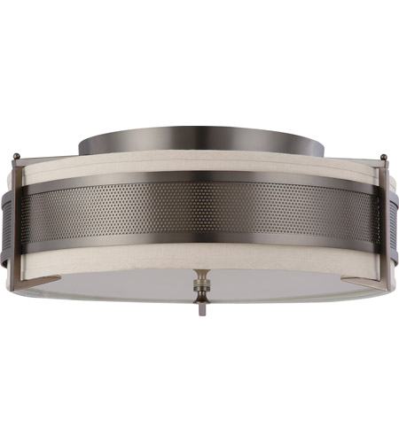 Nuvo Lighting Diesel 4 Light Flushmount in Hazel Bronze 60/4437 photo