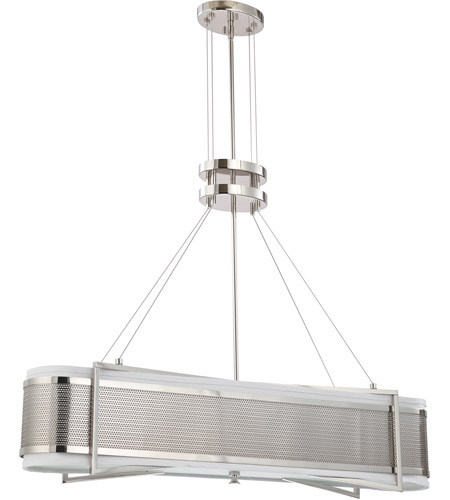 Nuvo Lighting Diesel 4 Light Pendant in Polished Nickel 60/4445 photo