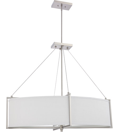 Nuvo Lighting Portia 6 Light Pendant in Brushed Nickel 60/4466 photo
