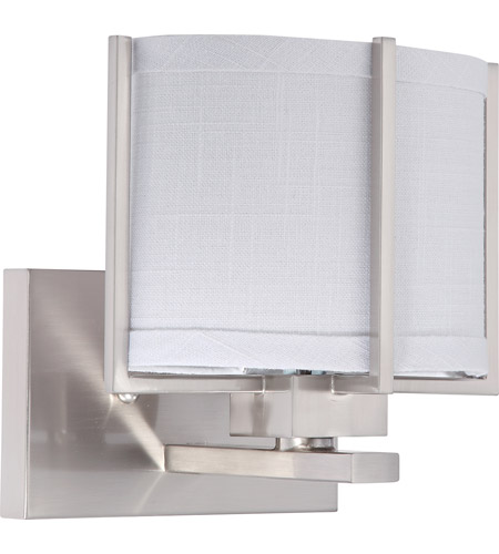 Nuvo Lighting Portia 1 Light Vanity & Wall in Brushed Nickel 60/4472 photo