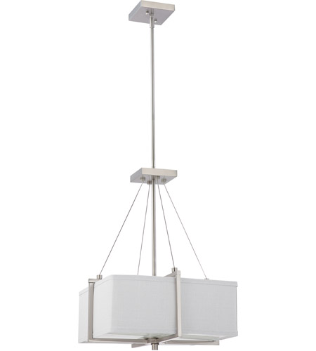 Nuvo lighting logan 2 light pendant in brushed nickel 604506 mozeypictures Choice Image