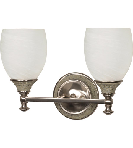 Nuvo Lighting Rockport Milano 2 Light Vanity & Wall in Brushed Nickel 60/454 photo