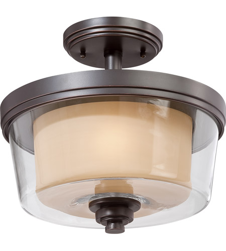 Nuvo Lighting Decker 2 Light Semi-Flush in Sudbury Bronze 60/4553 photo