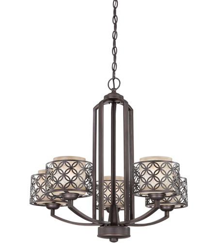 Nuvo Lighting Margaux 5 Light Chandelier in Patina Bronze 60/4565 photo