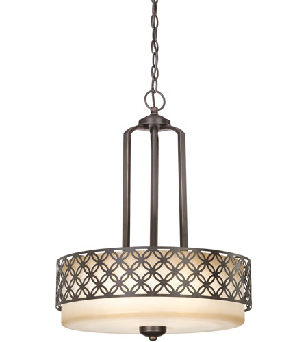 Nuvo Lighting Margaux 3 Light Pendant in Patina Bronze 60/4566 photo