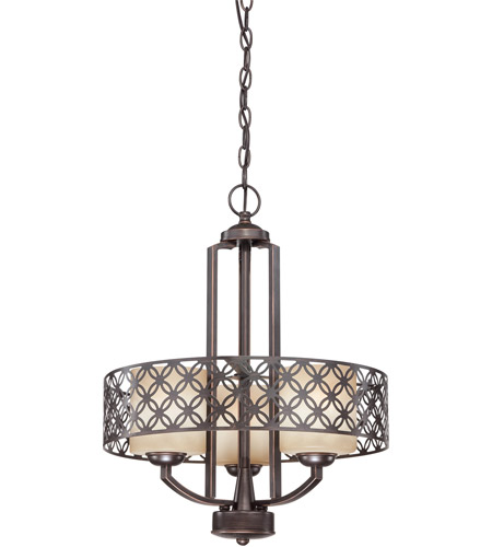 Nuvo Lighting Margaux 3 Light Chandelier in Patina Bronze 60/4567 photo