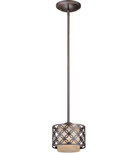 Nuvo Lighting Margaux 1 Light Mini Pendant in Patina Bronze 60/4568 photo