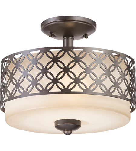 Nuvo Lighting Margaux 2 Light Semi-Flush in Patina Bronze 60/4572 photo