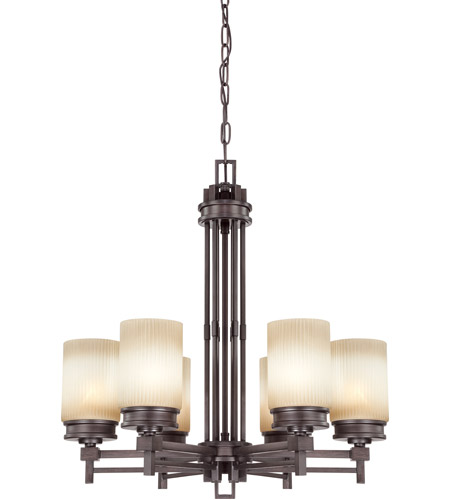 Nuvo Lighting Wright 6 Light Chandelier in Prairie Bronze 60/4605 photo