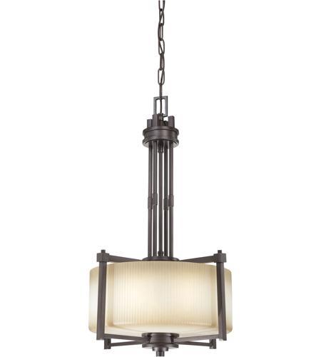 Nuvo Lighting Wright 3 Light Pendant in Prairie Bronze 60/4606 photo