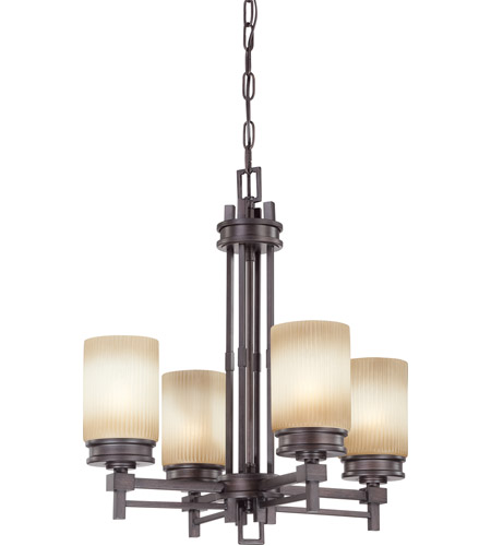 Nuvo Lighting Wright 4 Light Chandelier in Prairie Bronze 60/4607 photo