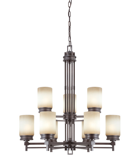 Nuvo Lighting Wright 9 Light Chandelier in Prairie Bronze 60/4609 photo