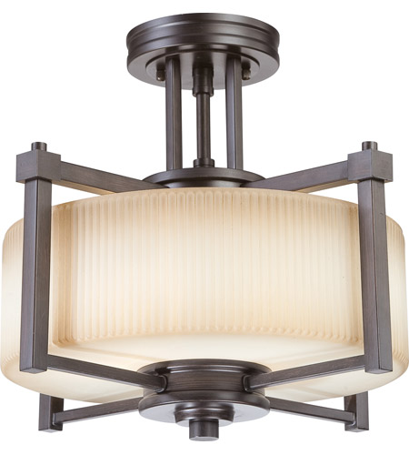 Nuvo Lighting Wright 2 Light Semi-Flush in Prairie Bronze 60/4613 photo