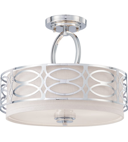 Nuvo Lighting Harlow 3 Light Semi-Flush in Polished  Nickel 60/4629 photo