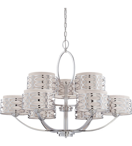 Nuvo Lighting Harlow 9 Light Chandelier in Polished  Nickel 60/4630 photo