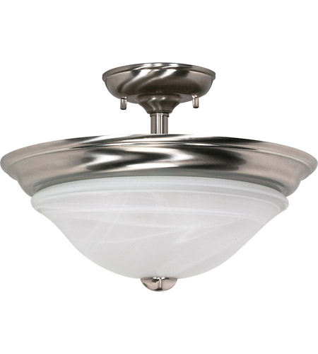 Nuvo 60/464 Triumph 2 Light 16 inch Brushed Nickel Semi-Flush Ceiling Light photo