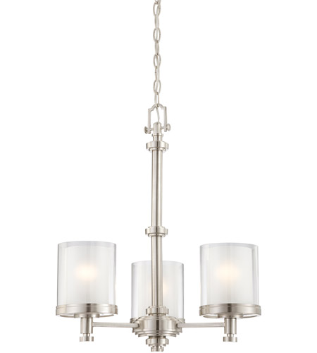 Nuvo 60/4647 Decker 3 Light 20 inch Brushed Nickel Chandelier Ceiling Light photo