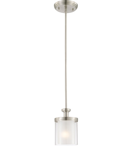 Nuvo Lighting Decker 1 Light Mini Pendant in Brushed Nickel 60/4648 photo