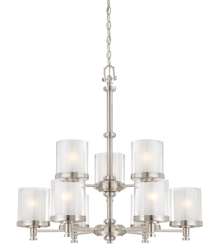 Nuvo Lighting Decker 9 Light Chandelier in Brushed Nickel 60/4649 photo