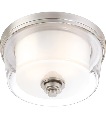 Nuvo Lighting Decker 2 Light Flushmount in Brushed Nickel 60/4651 photo