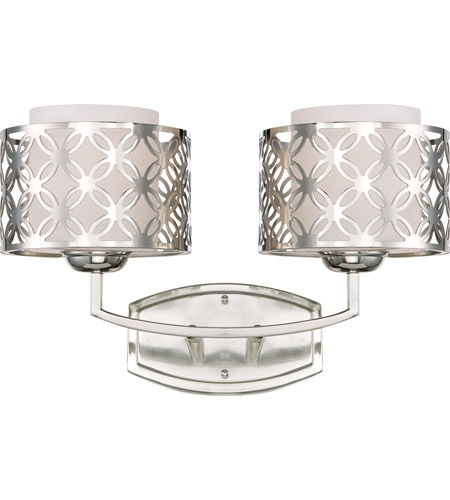 Nuvo Lighting Margaux 2 Light Vanity & Wall in Polished Nickel 60/4662 photo