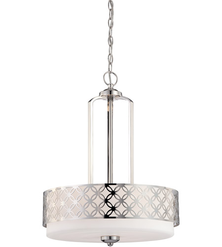 Nuvo Lighting Margaux 3 Light Pendant in Polished Nickel 60/4666 photo