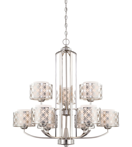 Nuvo Lighting Margaux 9 Light Chandelier in Polished Nickel 60/4669 photo