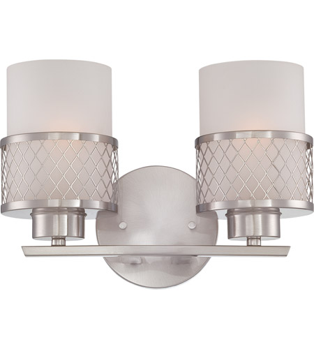 Nuvo Lighting Fusion 2 Light Vanity & Wall in Brushed Nickel 60/4682 photo