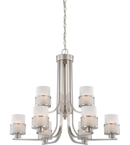 Nuvo 60/4689 Fusion 9 Light 31 inch Brushed Nickel Chandelier Ceiling Light photo